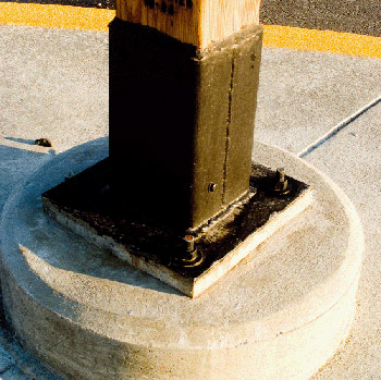 wood pole base